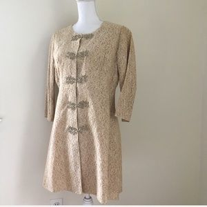 Vintage 50's/60's Tan Lace Jacket Large